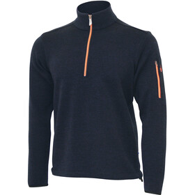 Ivanhoe of Sweden Assar Felpa mezza zip Uomo, navy